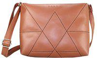 Fargo Drum PU Leather Women's And Girl's Side Sling Bag (Brown_FGO-183)