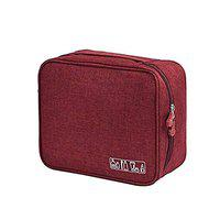 FORKLS Toiletry Bag for Women/Men Travel Organiser (Grey - S11017) (Maroon)