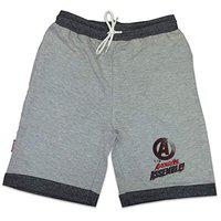 Marvel Short For Boys Casual Graphic Print Cotton Lycra Blend(Grey, Pack of 1)