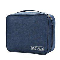 FORKLS Toiletry Bag for Women/Men Travel Organiser (Grey - S11017) (Navy Blue)