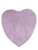 Supreme Home Collective 100% Cotton Heart Shape Door Mat/Bath Mats for Bathroom (Size:19 inch x 31 inch, Pink)