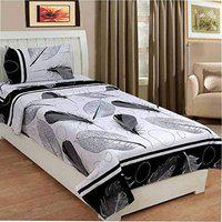 Urban Home 160 TC Microfibre Single 3D Luxury Bedsheet Without Pillow Cover