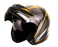 Vega Boolean Drift Black Orange Flip-up Helmet-M