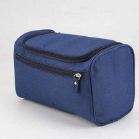 SWADEC Hanging Fabric Travel Toiletry Bag Organizer (Navy Blue)