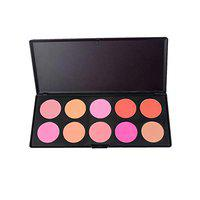 Futaba Cheek Matte Pressed Blusher Palette -10 Colors - Rambling Rose