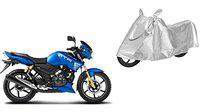 SHEEN Silver Universal Bike Cover for Tvs Apache RTR180 (Dust Resistant, Sunlight Protection)