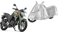 SHEEN Silver Universal Bike Cover for Yamaha FZ-S (Dust Resistant, Sunlight Protection)