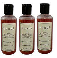 Khadi Natural herbs Rose face (Praben & Sulphate Free) Face Wash (630 ml)