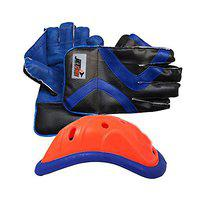 JetFire Practice Wicket Keeping Gloves with Abdominal Guard Cricket Kit