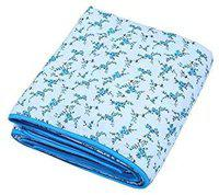 INDICUM Yale Flower Printed Double Bed Super Soft Cotton Blanket 96 * 85