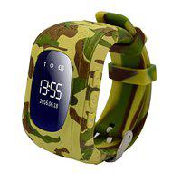 SeTracker Smart Watch for Kids, GPS Tracker Micro Sim Card Support Smart Phone Control (Android, iOS), SOS Call, Two Way Calling, GPS Position - Camouflage