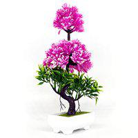 Breewell Attractive Artificial Flower Plant with White Pot for Home/Hotel/Office Dcor-BW06