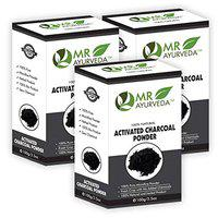 MR Ayurveda 100% Organic Activated Charcoal Powder for Face - Pack of 3 (300 Gm)