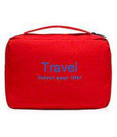 D'JazZTM toiletry Bag Travel Organizer Cosmetic Bags Makeup Bag Toiletry Kit Travel Bag Travel Toiletry Bag Unisex (Red)