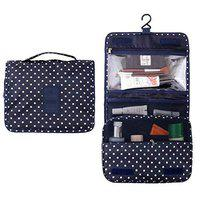 D'JazZTM Multi Functional Travel Organizer Accessory Toiletry Cosmetics Bag Makeup Or Shaving Kit Pouch For Men & Women (Blue)
