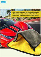 Nikavi Thick And Soft Absorbent Wash Cloth, Auto Care Microfiber Cleaning Cloth, Yellow (Set of 1)