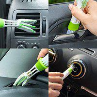 Yashinika Green Mini Duster for Car Air Vent, Automotive Air Conditioner Cleaner, Dust Collector Cleaning Cloth Tool for Keyboard Window Leaves Blinds Shutter for Toyota All Car Models