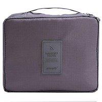 D'JazZTM Travel Cosmetic Bag, Makeup Case, Storage Organizer Bag, Travel Toiletry Bag (Grey)