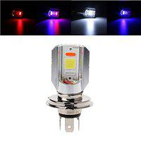 visionrabbit H4 12-24V Motorcycle LED COB Hi/Lo Beam Front Headlight Bulb Lamp 3 Colors VRMSNW59
