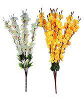 Litleo for Any vase, Great Looking for Home Office or Gift Yellow Assorted Artificial Flower (White Yellow)