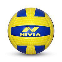 Nivia AIRSTRIKE PU Volleyball ( Size: 4, Color : Yellow and Blue, Ideal for : Training/Match )