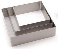 Grizzly Square Cake Ring Stainless Steel Cutter for Cake,Tier Cake,Fondant Cutter Mousse Ring Cake and Pastry Moulds Baking Tools(Set of 3) (Square)