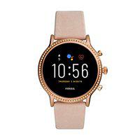 Fossil Gen 5 (44mm, beige) Julianna leather Touchscreen Women's Smartwatch with Speaker, Heart Rate, GPS, Music storage and Smartphone Notifications - FTW6054