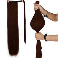 Paradise Women's and Girl's Ponytail Extensions Wrap Around Hair (Dark Brown)