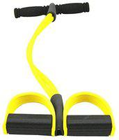 IRIS Fitness Pull Reducer Tummy Trimmer Ab Builder Home Gym and Waist Reducer Six Pack Abs Pull Exerciser Resistance Tube Ab Exerciser with 4 Tubes Bands (Yellow)
