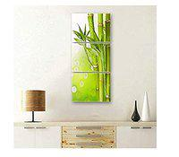 SAF Set of 3 Bamboo Stick Flower UV Coated 6MM MDF Home Decorative Gift Item Painting 12 inch X 27 inch SANFC12102