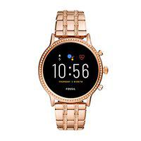 Fossil Gen 5 (44mm, rose gold) Julianna Stainless Steel Touchscreen Women's Smartwatch with Speaker, Heart Rate, GPS, Music storage and Smartphone Notifications - FTW6035