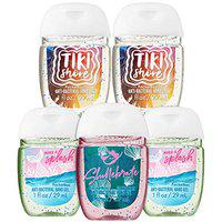 Bath and Body Works SEAS THE DAY 5-Pack PocketBac Hand Sanitizers. 1 Oz each