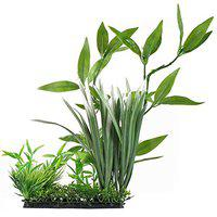 TOPBATHY Aquarium Ornament Large Fish Tank Underwater Plant Green Grass Leaves for Home Office Saltwater Freshwater Tropical Tank Decorations