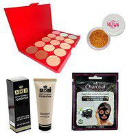 Vozwa ADS Concealer, Foundation, Charcoal Peel-off Mask and Nail Art Glitter Powder