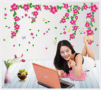JAAMSO ROYALS Vinyl Flowers Wall Sticker, 1.96 x 1.96 x 19.68 Inches, Multicolour