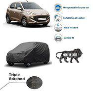 Varshine CAR Cover for Santro 2019 || Export Quality Fabric || Water Resistant and UV Protection || Triple Stitched || Dark Grey Color || with Carry Bag || Model V3XL s-17