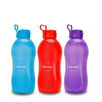 oliveware King Plastic Water Bottle, 2L, Set of 3, Multicolour
