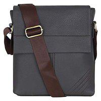Khandelwal & Sons Brown Leather Casual Messenger Bag for Men and Women