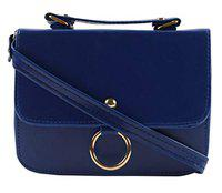 3G Collections Women's PU Casual Sling Bag (Blue)
