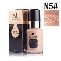 Miss Rose 30ml Purely Natural Liquid Foundation Base Makeup, Beige, 30 ml