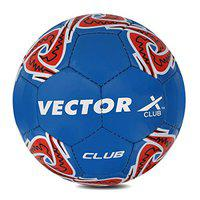 Vector X Club Hand Stitched Football (Blue-Red) (Size-5)