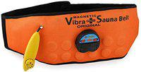 RBS (Free Size) New Heavy Motor Sauna Slim 3 in 1 Vibrating Plus Heating Vibrating Magnetic Slimming Belt Vibrating Magnetic Slimming Belt (Orange)