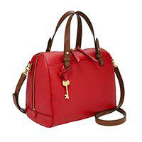 Fossil Rachel Leather 25.4 cms Red Gym Shoulder Bag (ZB7256646)