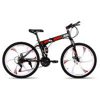 Amardeep Cycles Blix Folding 26 inches Sports Bicycle 21 Speed Gear(1 Year Frame Warranty) (Black)