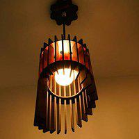 US DZIRE 431PLN Hanging lamp electric antique Wooden Ceiling Lights(With Gold Bulb)Pendant Lamp shade Night Lamp for Living Room,Bedroom,office,Restaurant,Dining Hall,Home decor Cafe,Modern Kitchen etc