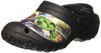 Marvel Boy's Black Clogs-10 Kids UK (28 EU) (MAPBMO2053)