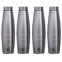Nutristar Water Bottle | Stainless Steel Water Bottle | 1 Litre Water Bottle. Set of 4 Bottles.