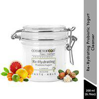 Cosmetofood Professional Re-Hydrating Probiotic Yogurt Face Cleanser, 200 mL