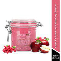 Cosmetofood Professional Apple & Raspberry Oil Balancing Face Cleanser, 200 mL