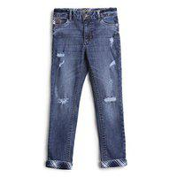 UFO Low Distress Navy Blue for Boys Jeans